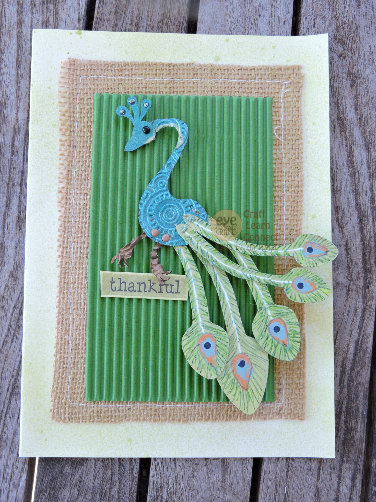The Final Blue Peacock Card