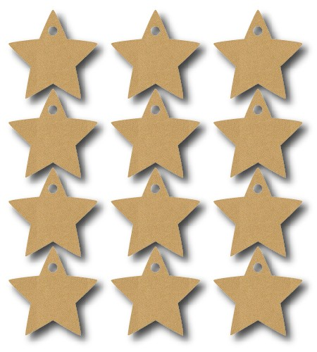Add a bit of sparkle or shine to your next craft project with Lace-Up stars.
