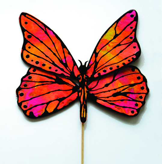 The Totem Monarch assembled with mini brads makes a fun beginner craft.