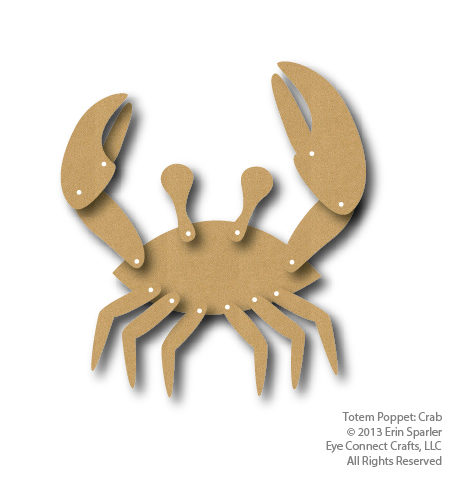 With 8 legs the Totem Crab is a fun posable addition to your beach themed craft project.