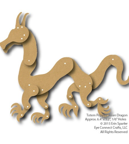 The Totem Dragon is a wonderfully flexible design that can be posed in multitude of ways to create a unique craft project.