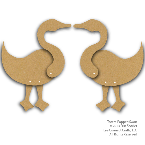 The Totem Swan comes with two swans so you can make a pair.