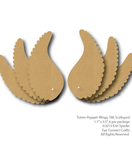 Six adorable wings with lovely detailed scalloped edges come in this craft kit.