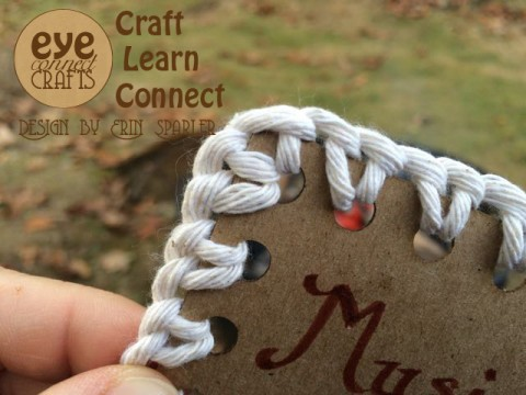 Using a Blanket Stitch on the organization tags.