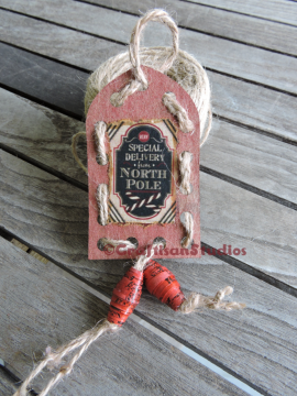 DIY Craft project, Vintage Christmas tags