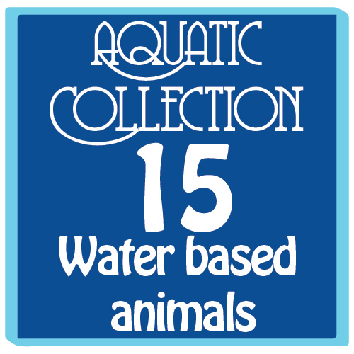 Easy Ordering Option: The Aquatic Collection. 15 Water based movable animal projects.