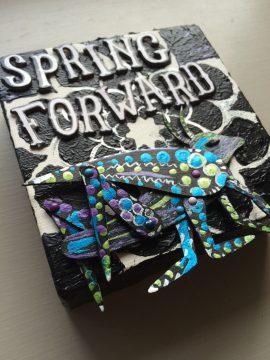 Spring forward DIY wall decor canvas