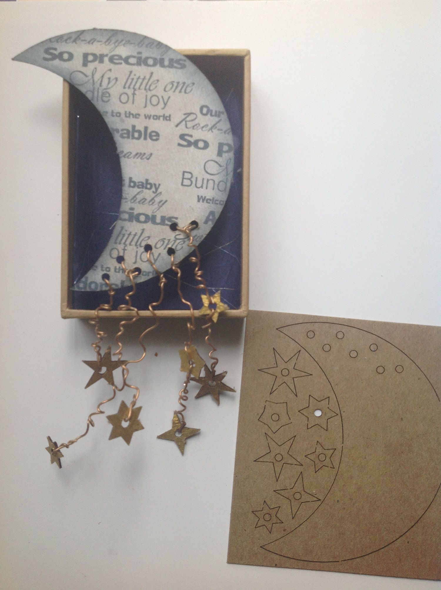 Lace-Up Moon and Stars used in Gail Green Mixed Media in Motion in the CHA Mega Show Workshop 2016