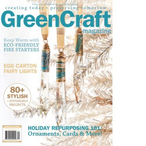 The Cover of the 2014 Winter GreenCrafts Magazine featuring our owner, Erin Sparler's pony tail hat design.