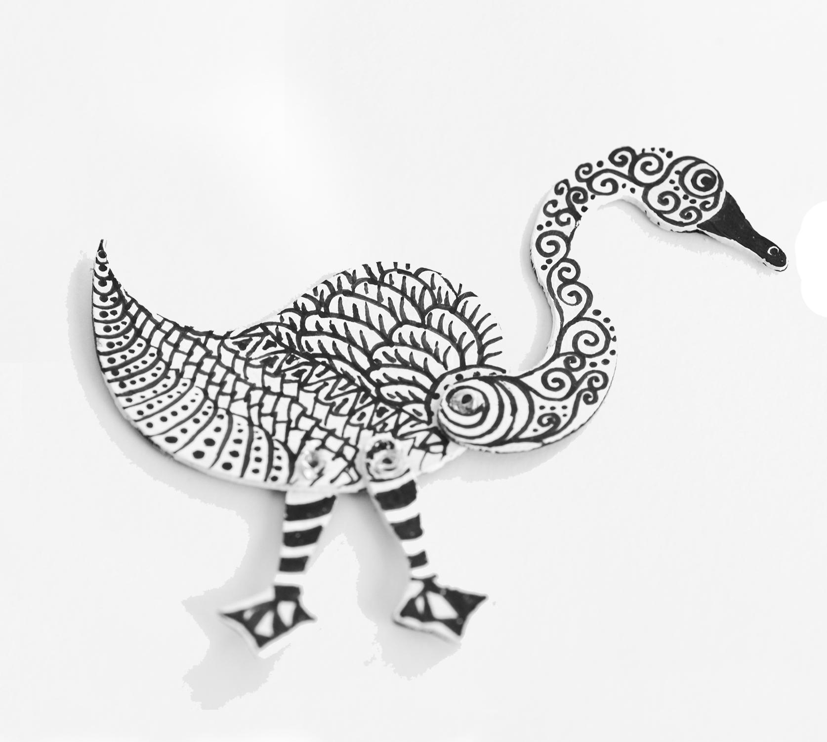 Zentangled Totem Swan