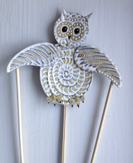 Educational kids crafts: Totem Poppet Owl as a shadow puppet. Details...