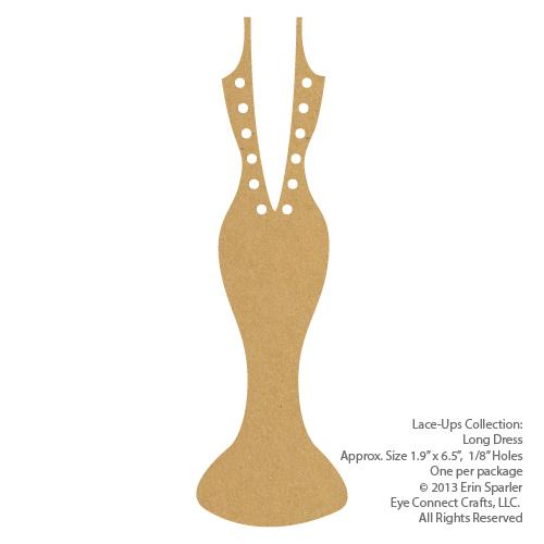 Lace-Up Long Dress