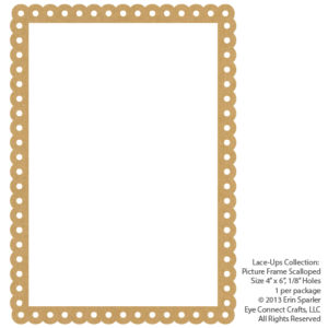 Picture Frame, Scalloped, Large