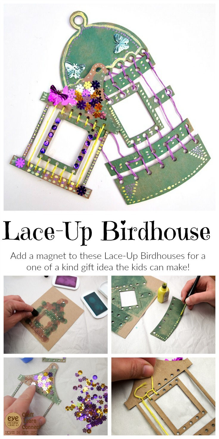 Lace-Up Birdhouse Project