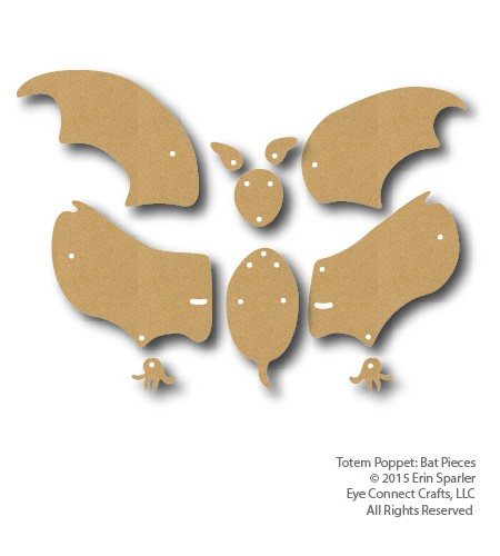 The Totem Bat has unique membrane wings that expand and move! Add this fun craft kit to your next Halloween craft project today!
