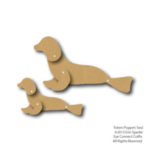 The Totem Poppet Seal comes with two Totem Seals and makes a great children craft project.