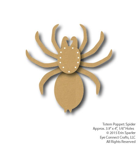 This craft kit is a perfect addition to EyeConnect Crafts' Lace-Up spider web or any spooky Halloween craft project.