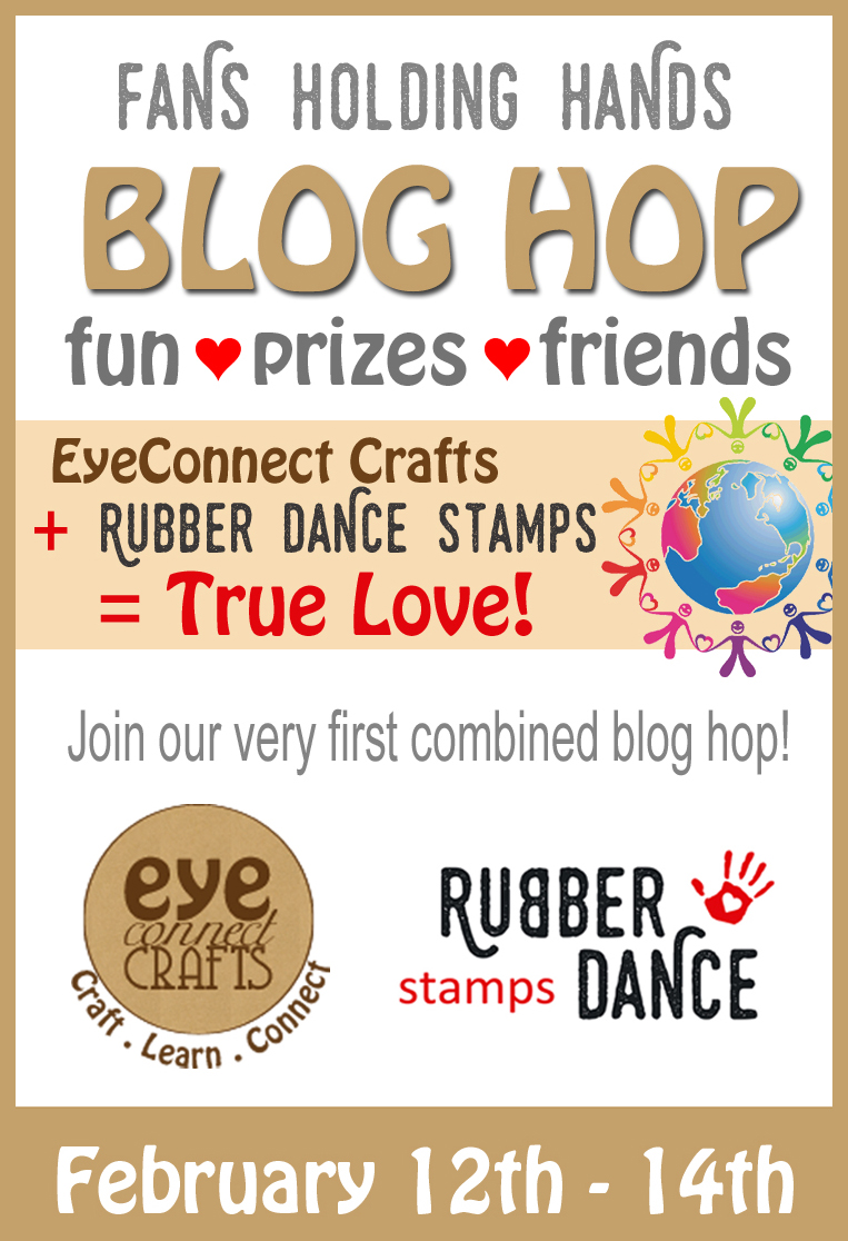 Blog Hop with EyeConnect crafts and Rubber Dance Stamps.